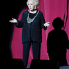 Doris takes the spotlight and entertains the audience, 2009.