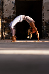Emilie Eldridge does Yoga at the old Cannery in Todos Santos