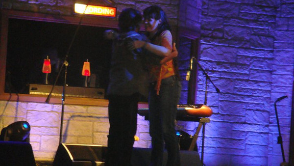 Deb gets a big hug from the Legendary<br /> Keith.