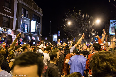 Blackhawks celebration in Wrigleyville