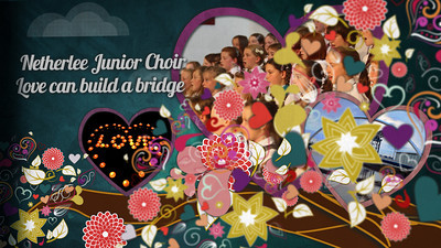 Netherlee Junior Choir sing Love can build a bridge to inspire you to act now building a bridge, giving your heart's desire to help others.