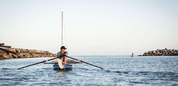 John Taussig  paddling for myeloma in honor of his mother, Anne, and his uncle, Tom.