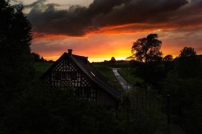 Colorful Sunset at Obermüli (Amriswil, TG)