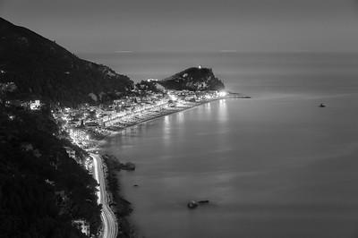 Varigotti Coastline by Night