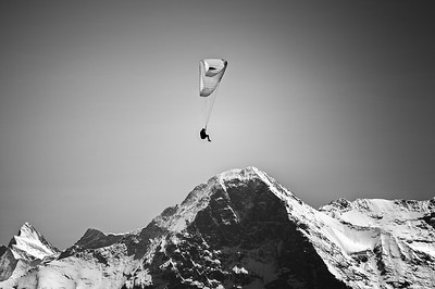 Paraglider at North Face of the Eiger