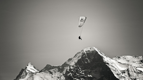 Paragliding at the North Face of the Eiger