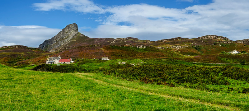 A cottage under the An Sgurr, Eigg
