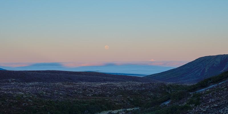 Full Moon and Mt Taranaki