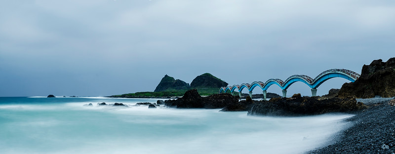 Dragon Bridge to the Island of the Three Immortals