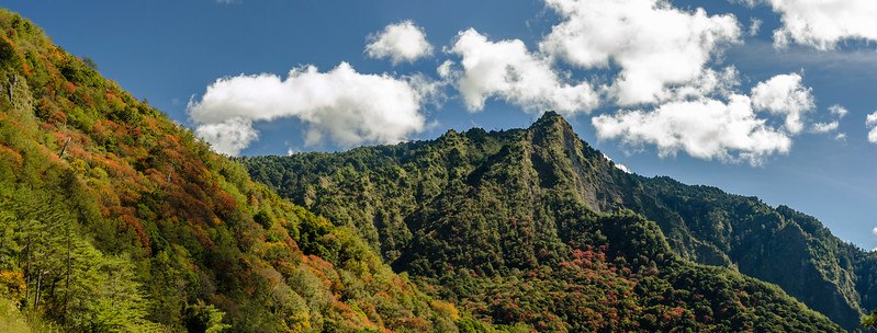 An excellent local walk in the Yushan National Park area. Unfortunatly, could not be completed due to a typhoon damaged bridge. Autumn colours and absolutely nobody on the trail. So refreshing!