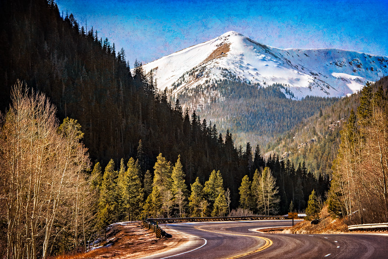 Scenic Rocky Mountain Roadway