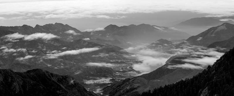 Valley below