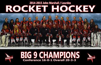 2014-2015 JML Rocket Hockey Team Photo 11x17