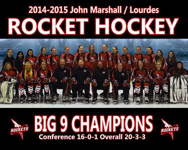 2014-2015 JML Rocket Hockey Team Photo 8x10