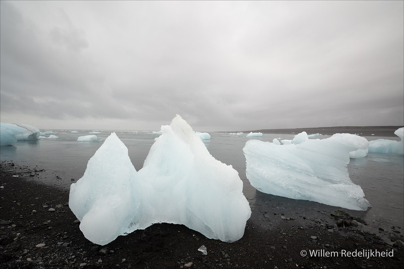 Glacial Waste On The Beach