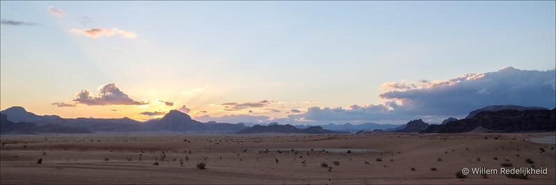 Sunset on the Wadi Rum