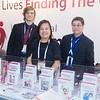 IMF Staffers [From Left to Right:] Brando Sordoni, Amirah Limayo, and Miko Santos greeted all those who stopped by the IMF Booth at ASH.