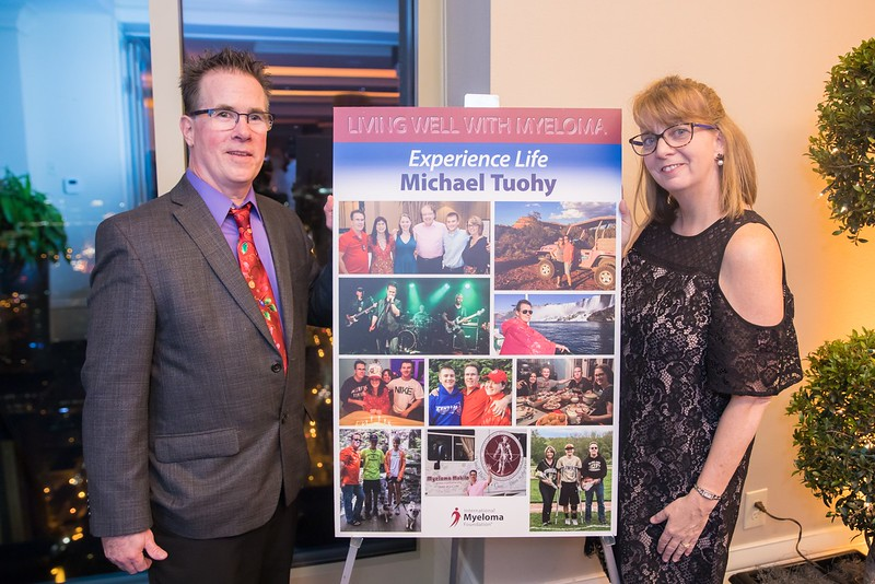 Michael Tuohy, 17-year myeloma survivor and patient advocate, with his wife Robin Tuohy, IMF Senior Director of Support Groups