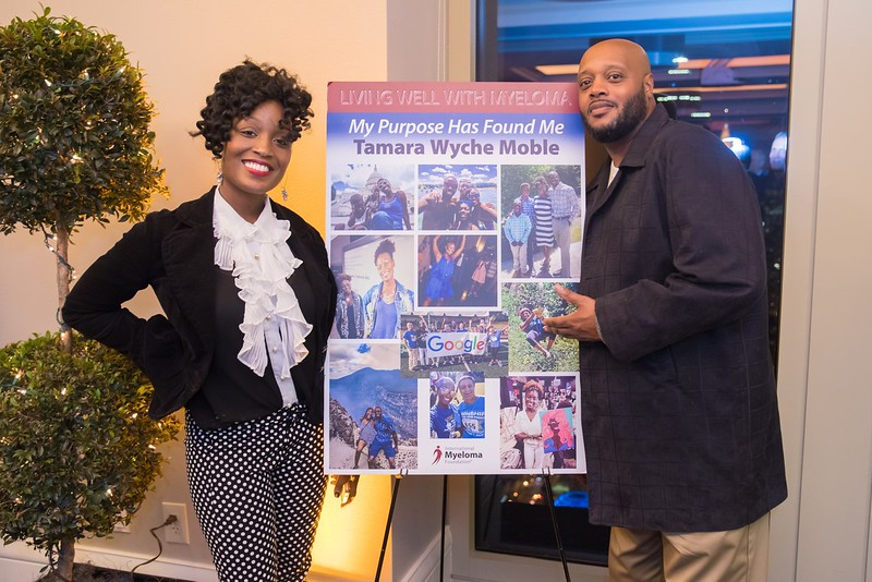 "Our final pair of myeloma warriors, Tamara Wyche Moble and her brother. Tamara told the audience that since her myeloma diagnosis, ""My purpose has found me."""