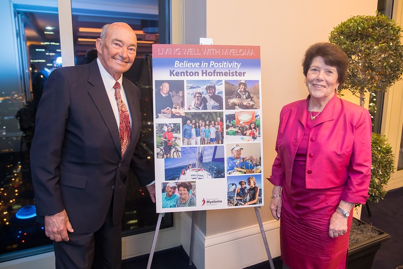 Myeloma patient Kenton and his wife Ann Hofmeister attended the reception, where Kenton shared his inspirational personal philosophy.