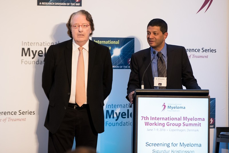 IMF Chairman, Dr. Brian Durie and Dr. S. Vincent Rajkumar