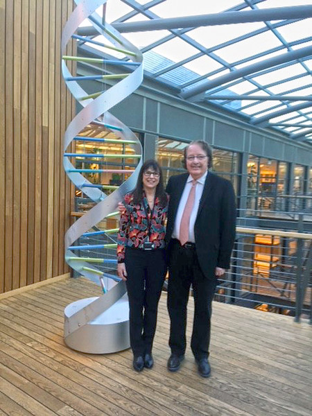 IMF Founder & President Susie Durie and IMF Chairman of the Board Dr. Brian G.M. Durie are in Iceland at the HQ of DeCode Genetics.