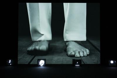 John Giorno retrospective - feet