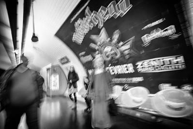 Nun and the devil in metro