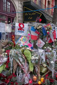 Bataclan Cafe memorial
