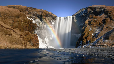 Happy rainbow at Skogafoss