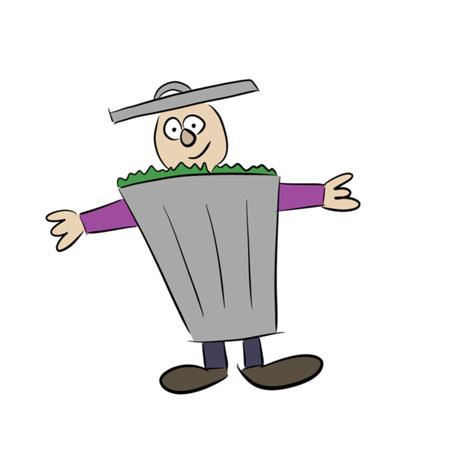 Trash Can Costume