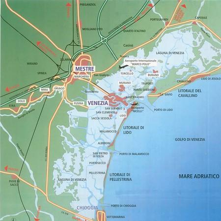 Map of Lagoon Venice