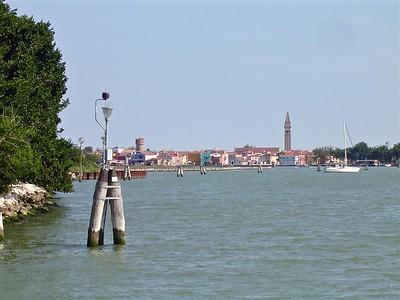 Leaning Campanile of San Martino Vescovo Burano Venice