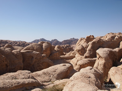 Rock Formations in the Wadi Rum