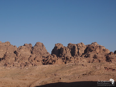 The mountains of Petra