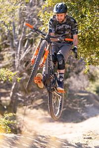 Kirt Voreis barspins while mountain biking in California.