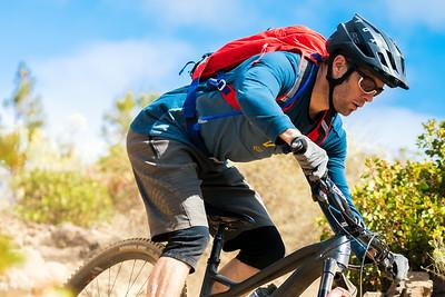 Kirt Voreis rides his Niner mountain bike near his home in Bend Oregon.