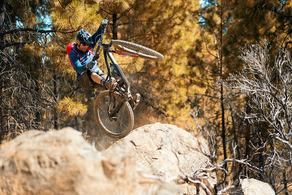 Kirt Voreis rides his Niner mountain bike near his home in Bend Oregon.