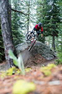 Kirt Voreis rides near Truckee, CA