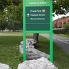Lakefront Boulevard Entrance Shoreline Trail Sign (at Lakefront Boulevard)