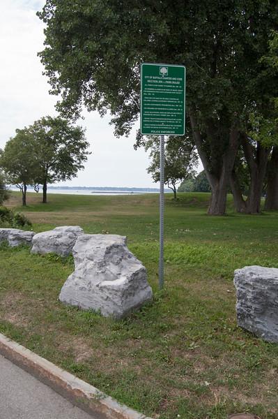 Park Rules Sign, Lakefront Boulevard Entrance (at Lakefront Boulevard)