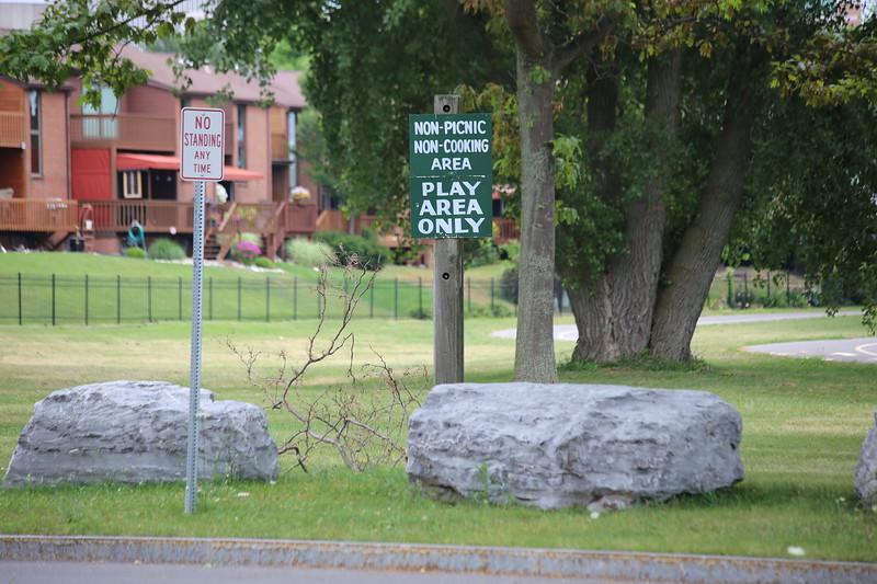 Signage near Lakefront Boulevard Entrance - inside LaSalle Park