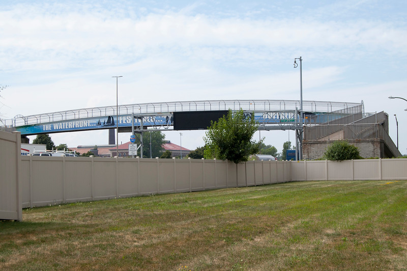 Hudson Street Pedestrian Bridge (view from Mariner Towers parking lot)