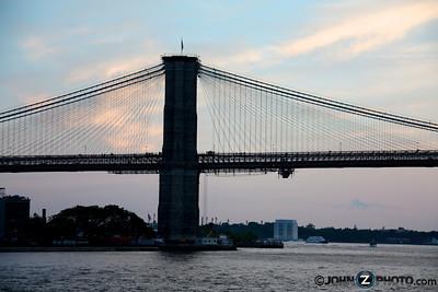 The Brooklyn Bridge at Dusk