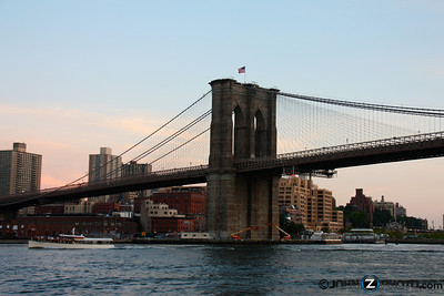 The Brooklyn Bridge at Dusk