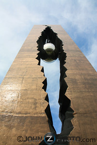 "Bayonne 9-11 Giant Tear Drop Memorial Overlooking The World Trade Center. ""To the Struggle Against World Terrorism"""