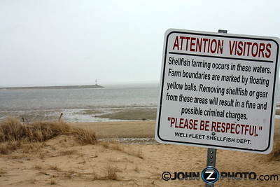 Shellfish warning sign