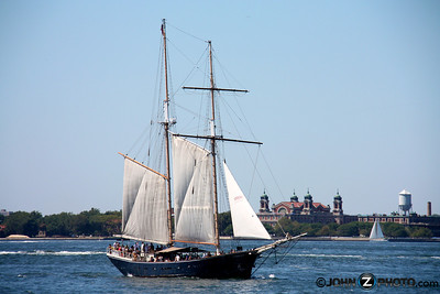 Sail Boat in NYC Harbor