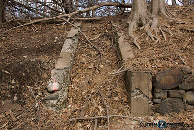 The remains of stairs that once led to someone's home