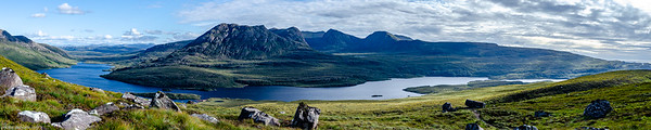 Large Panorama from Stac Pollaidh (Scotland)